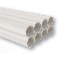 NuTone 3808 Semi-Rigid White PVC Tubing - 8 - 64 ft