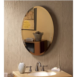 "NuTone 52WH184PV Oval - 1"" Beveled Mirror"