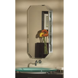 "NuTone 52WH244PT Octagon - 1/2"" Beveled Mirror Metro Shapes"