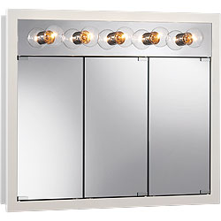"NuTone 755379 36""W x 30""H - Classic White/Lighted Cabinet"