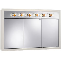 "NuTone 755387 48""W x 30""H - Classic White/Lighted Cabinet"