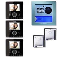 Cyrex 8495WU-3 Planux Family Video Intercom Kit- Black