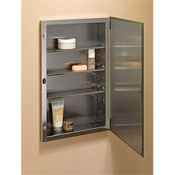 NuTone 868P24SS Single-Door Recessed Cabinet