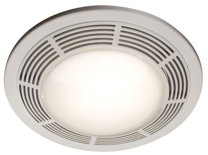 Broan 750 Fan/Light/Night-Light, 100 Cfm, 3.5 Sones, Round White Grille With Glass Lens