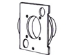 Inlet Mounting Plate - Nutone CF329 Central Vacuum, Central Vacuum Parts, Mounting Plate, Nutone, Nutone CF329
