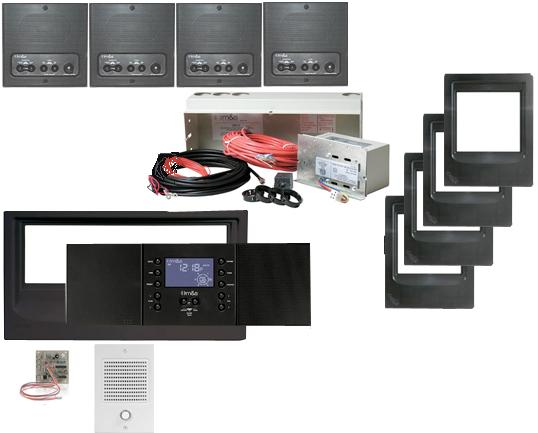 Music and Sound Intercom System Kit in black