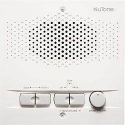 NuTone NPS103WH Outdoor Remote Station - Retrofit for 3-Wire Intercom Systems
