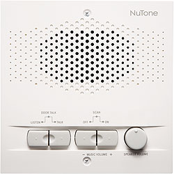 NuTone NPS104WH Outdoor Remote Station - Retrofit for 4-Wire Intercom Systems