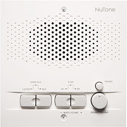 NuTone NPS200WH Outdoor Remote Station - Retrofit for 4-Wire Intercom Systems