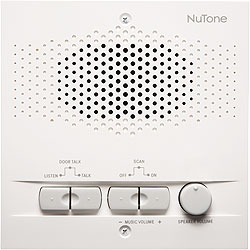 NuTone NRS104WH Indoor Remote Station - Retrofit for 4-Wire Intercom Systems