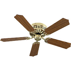 Nutone pfch52br 52 hug the ceiling ceiling fan polished brass aloadofball Images