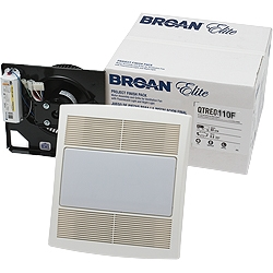 Broan QTRE080FLFT Bathroom Fan and Light Finish PAck