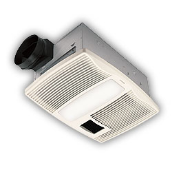 Broan QTX100HL Top SellerVentilation and Bath Fans with Lights and HeatersHeater/Fan/LightUltra Silent Series Bathroom Fan with Light and Heater
