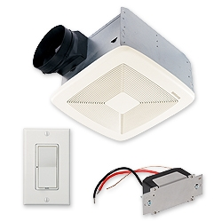 Broan SSQTXE110 Humidity Sensing Ventilation Bath Fan110 CFM Broan; Fan with control