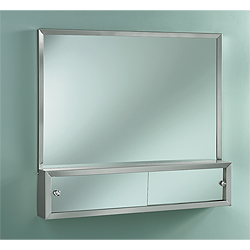 "Nutone J1645P48CH 48"" x 32"" Commodore Combination Mirror & Cabinet"