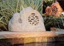 Linear Rock Speaker-Rust Outdoor Speakers