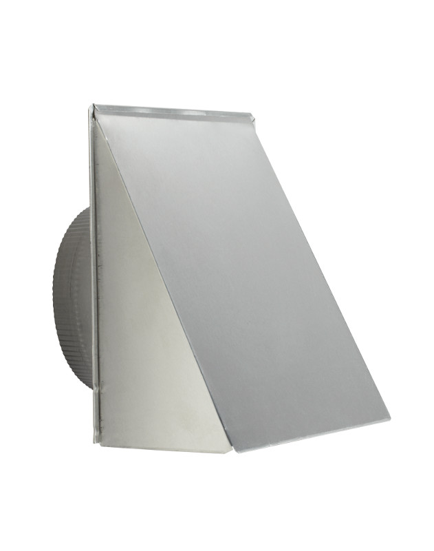 "Broan 643FA Aluminum Fresh Air Inlet Wall Cap for 8"" Round Duct"