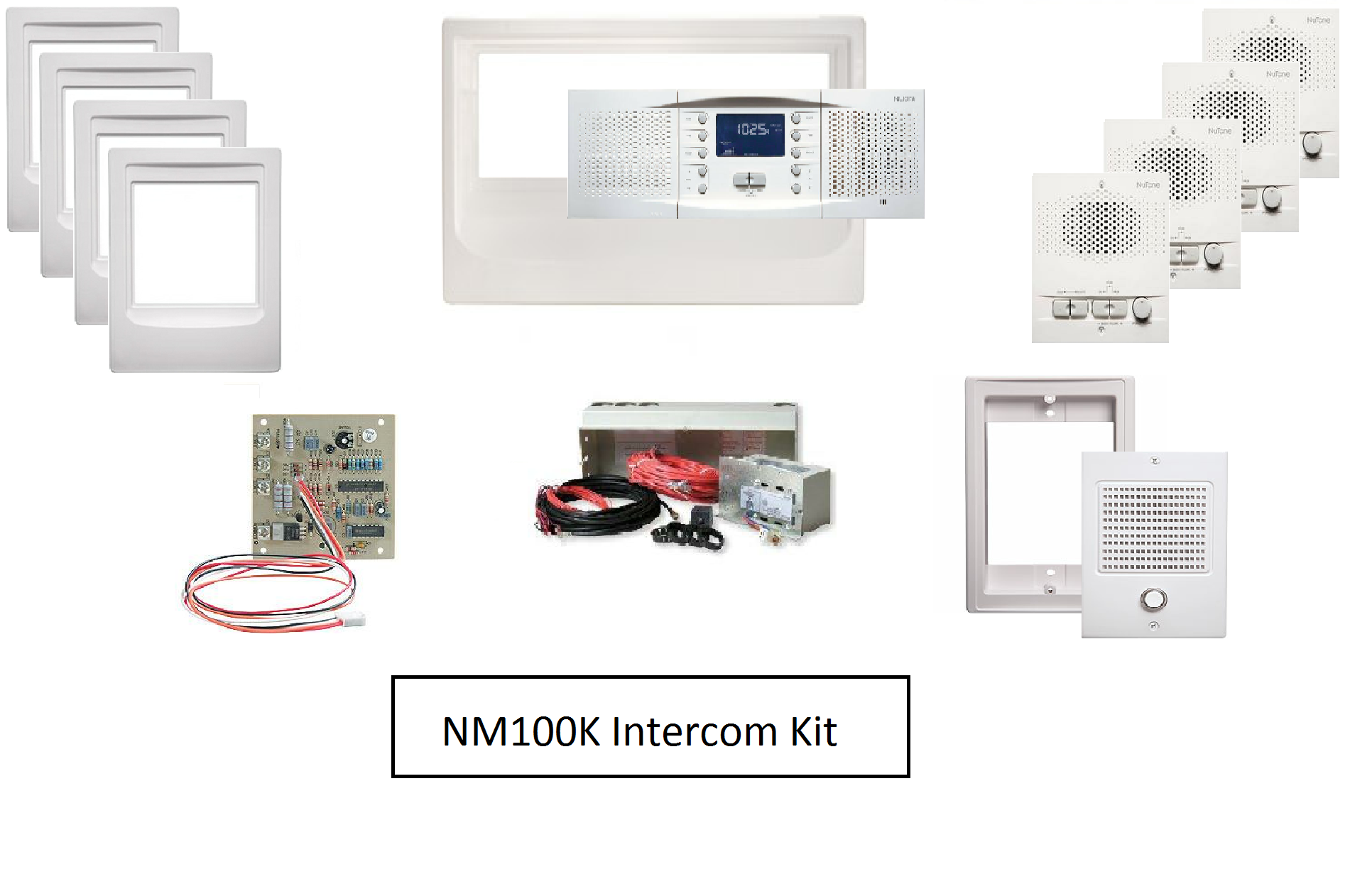 Intercom System Kit Model - Nutone NM100K intercom master station, intercom system with music, intercom speaker, home intercom system, office intercom system, intercom system