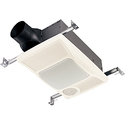 Broan 100HFL Ventilation Bathroom Fan with Heater and Energy efficient lighting