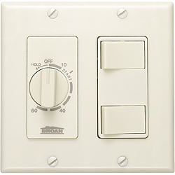 Broan 62V Bathroom Fan Wall Control