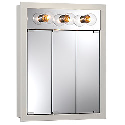 "NuTone 755363 24""W x 30""H - Classic White/Lighted Cabinet"