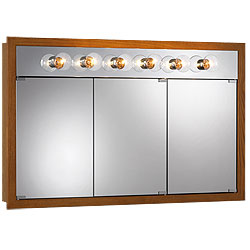 "NuTone 755419 48""W x 30""H - Honey Oak/Lighted Cabinet"