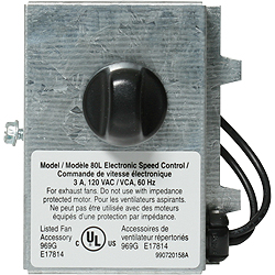 Broan 80L Bathroom Fan Wall Control
