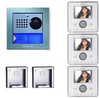 Cyrex 8495WU-3 Planux Family Video Intercom Kit-White