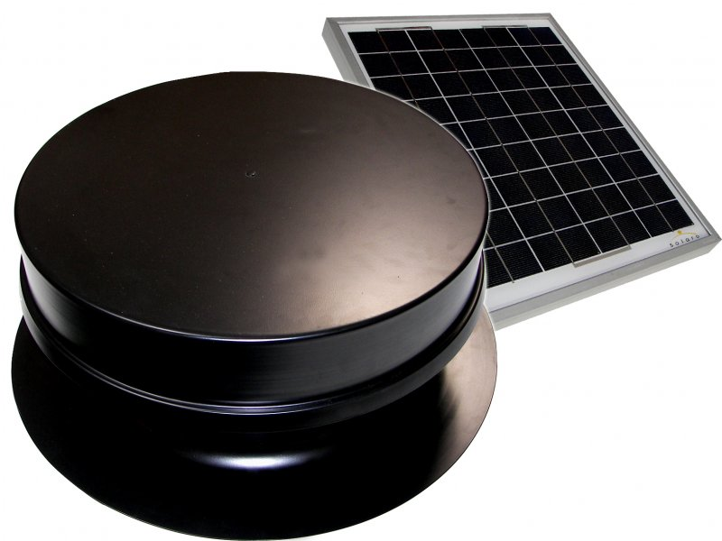 Solare Aire  1210R  Solar Attic Fan 10W Remote PV Panel - High profile