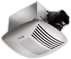 Delta 80CFM Super Quiet  Bathroom Fan 80CFM, .3 Sones