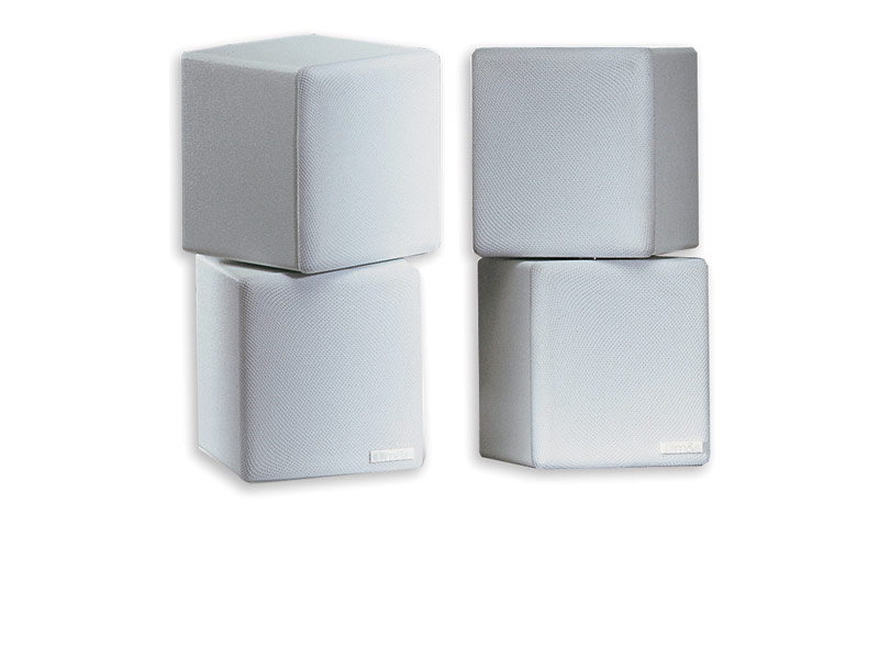M&S MCNX Mini-cube Platinum Speaker Pair-White