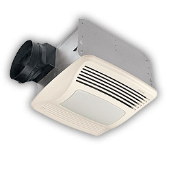 NuTone QTXEN110SFLT Humidity Sensing Fan/Light/Nightlight