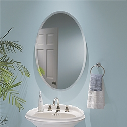 "NuTone S368244OVWH Oval - 1"" Beveled Mirror"