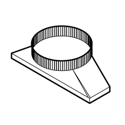 "Broan 427 thin wall horizontal transition; 4-1/2"" x 18-1/2"" to 10"" round"