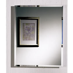 Nutone 1453ADJ Horizon Single Door Frameless Beveled Mirror Medicine Cabinet