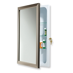 Nutone 625N244SNCL Locking Bath Cabinet - Satin Nickel