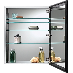 NuTone 72SS304D Stainless Steel Cabinet with Beveled Edge Mirror
