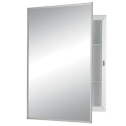 Nutone 781021B Recess Mount Cabinet - Polished Stainless