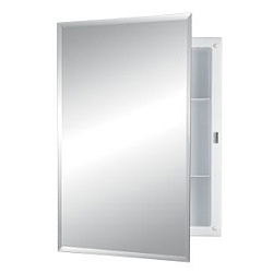 Nutone 781037B Recess Mount Cabinet - Frameless Mirror with 1/2""