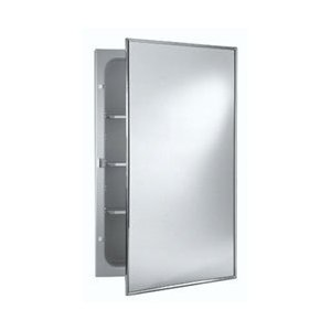 Nutone 840M24CH Stainless Steel Styleline Single Door Recessed