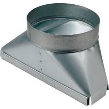 Transition - Broan 886 Duct Transition, Ducting Transition, Air Vent Transition, Rear Duct Transition, wall cap, air duct,