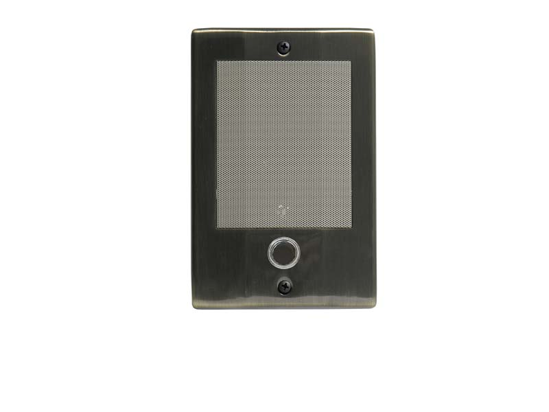 Linear MSDS3BN Antique Brass Intercom Door Station with Bell Button