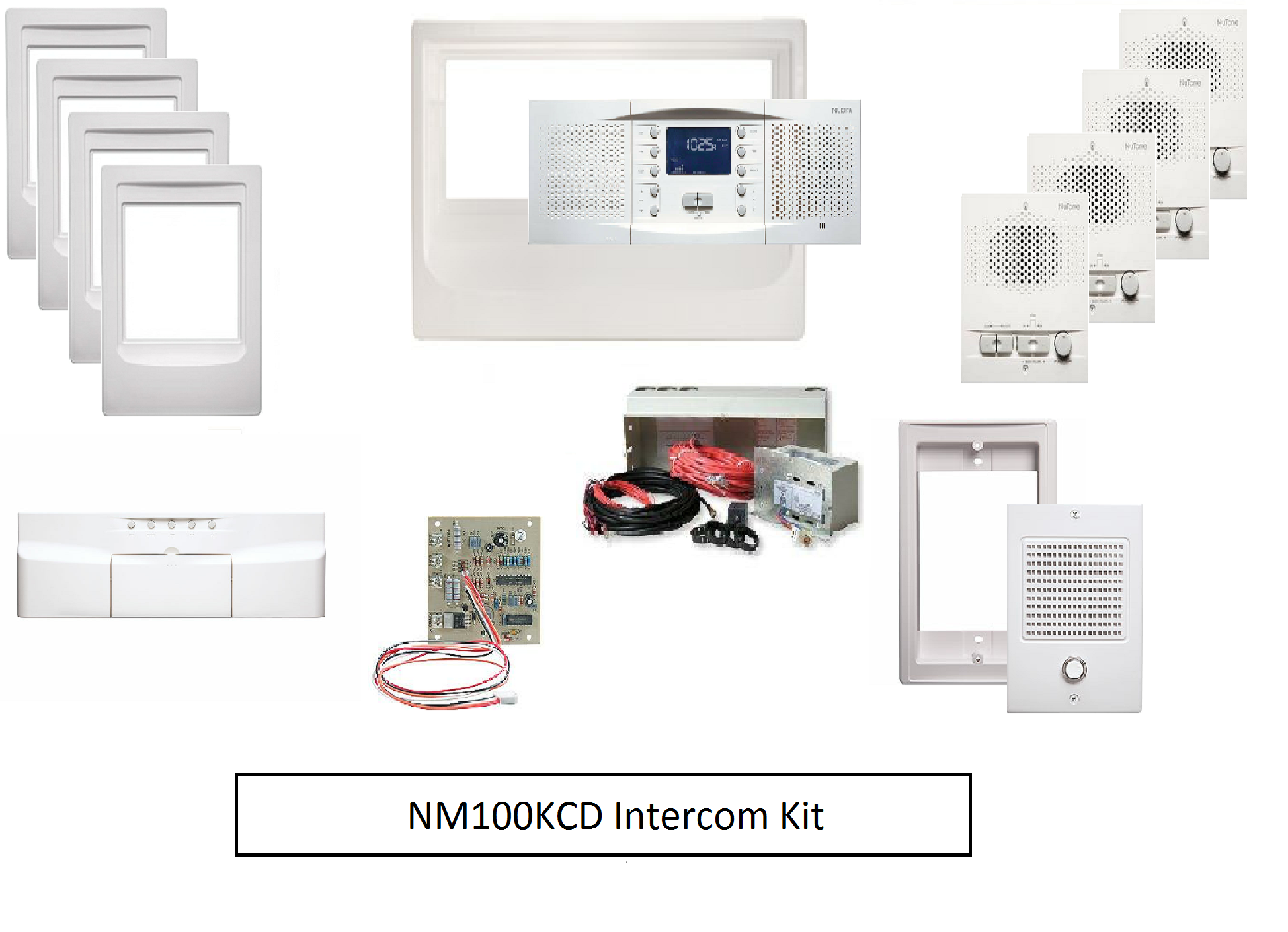 Intercom System Kit - Nutone NM100KCD intercom master station, intercom system with music, intercom speaker, home intercom system, office intercom system, intercom system