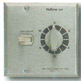 Combination 12 Hour Timer And Toggle Switch High/Low - Nutone CFS2WH Bathroom fan, Bathroom fans with lights, Bathroom ceiling fan, Quiet bathroom fans, Bathroom Fan Wall Control